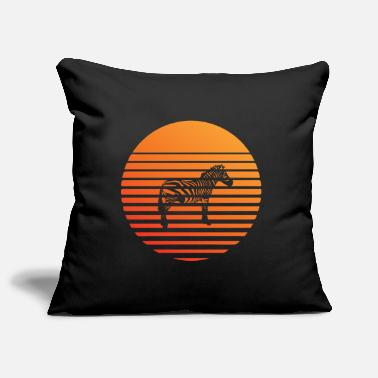 Vegan Zebra silhuette in the sunset - Pillowcase 17,3'' x 17,3'' (45 x 45 cm)