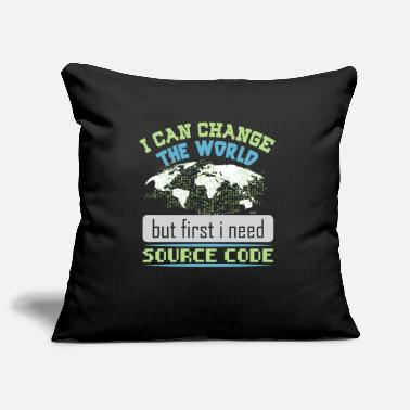 Linux Change the world, but only with source code - Pillowcase 17,3'' x 17,3'' (45 x 45 cm)