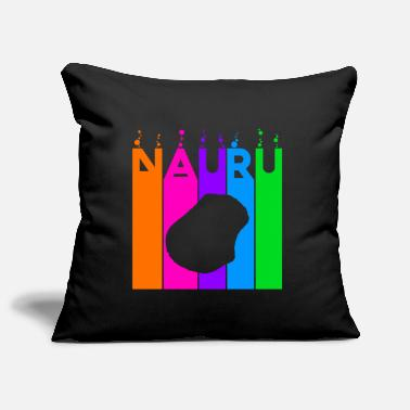 Languages Nauru colored bubbles and bubbles - Pillowcase 17,3'' x 17,3'' (45 x 45 cm)