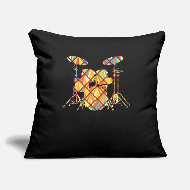 Drum Set Drum Set Drum Set Geometric - Pillowcase 17,3'' x 17,3'' (45 x 45 cm)