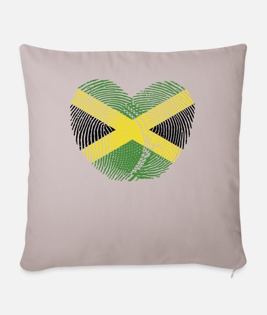 English Pillow Cases - Jamaica Heart Group Tee Shirts - Pillowcase 17,3'' x 17,3'' (45 x 45 cm) light taupe