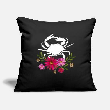 Love Crab With Flowers - Pillowcase 17,3'' x 17,3'' (45 x 45 cm)