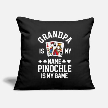 Therapy Pinochle Shirt Grandpa Is My Name Pinochle Is My - Pillowcase 17,3'' x 17,3'' (45 x 45 cm)