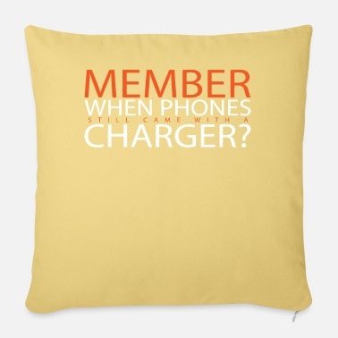 Charger Phone cellphone smartphone charger cable charger - Pillowcase 17,3'' x 17,3'' (45 x 45 cm)