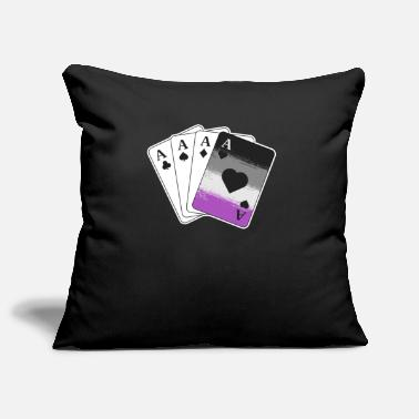 Cards Ace Asexual Pride Gifts Playing Card LGBTQ Pride - Pillowcase 17,3'' x 17,3'' (45 x 45 cm)