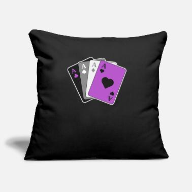 Friends Asexual Pride Shirt Ace Playing Card LGBTQ Pride - Pillowcase 17,3'' x 17,3'' (45 x 45 cm)