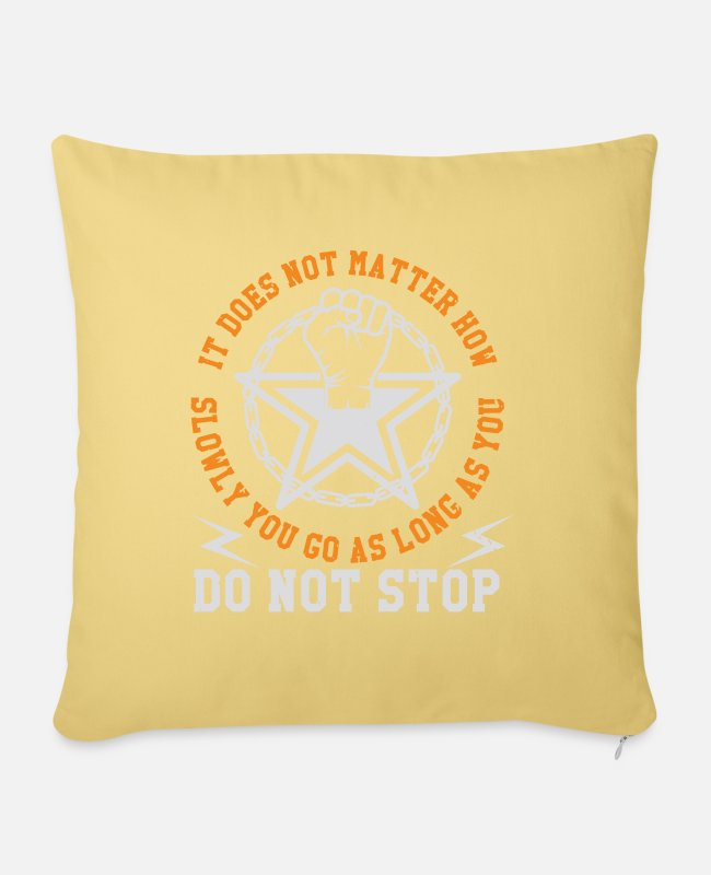 Mma Pillow Cases - It does not matter - Pillowcase 17,3'' x 17,3'' (45 x 45 cm) washed yellow