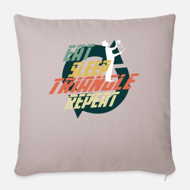 Cook EAT SLEEP TRIANGLE REPEAT - Pillowcase 17,3'' x 17,3'' (45 x 45 cm)