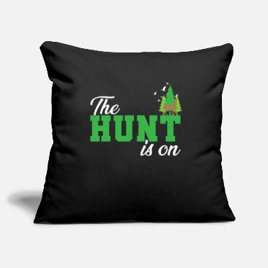 Gun The Hunt is On Hunter in the forest with animals - Pillowcase 17,3'' x 17,3'' (45 x 45 cm)