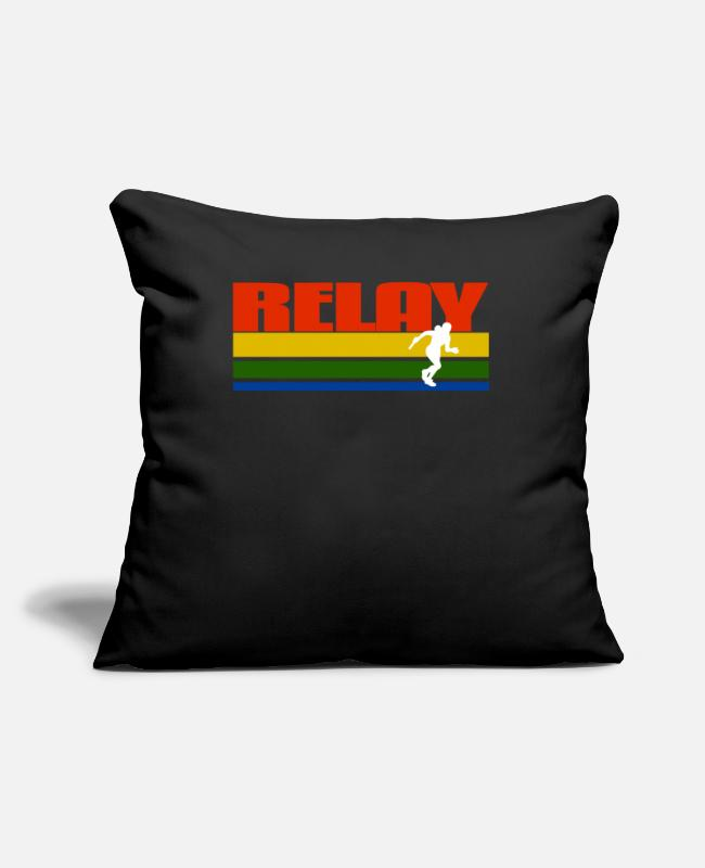Passed Pillow Cases - Vintage Relay Fan Tee - Pillowcase 17,3'' x 17,3'' (45 x 45 cm) black