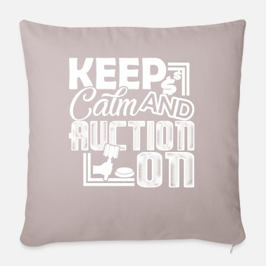 Auctions Auctioneer Auctioneer Keep Calm And Auction On - Pillowcase 17,3'' x 17,3'' (45 x 45 cm)