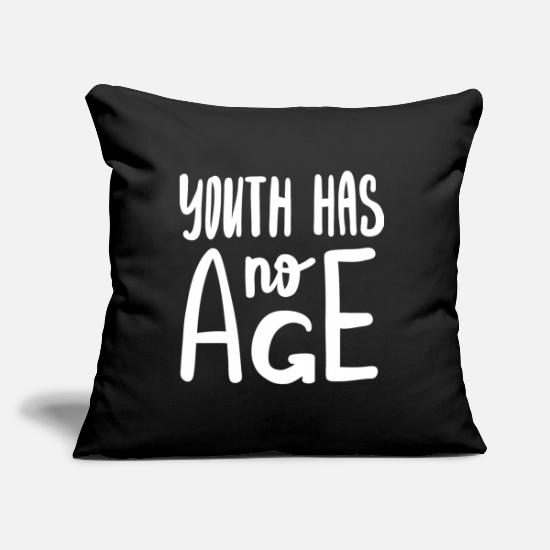 Love Pillow Cases - Motivation Age Young Gift - Pillowcase 17,3'' x 17,3'' (45 x 45 cm) black