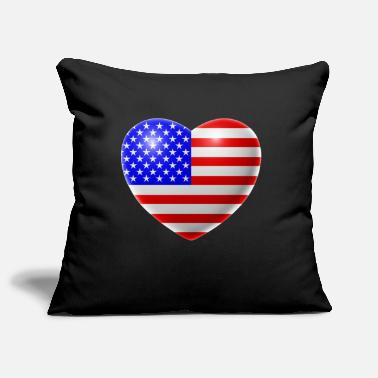 Usa Heart (USA / USA) - Pillowcase 17,3'' x 17,3'' (45 x 45 cm)