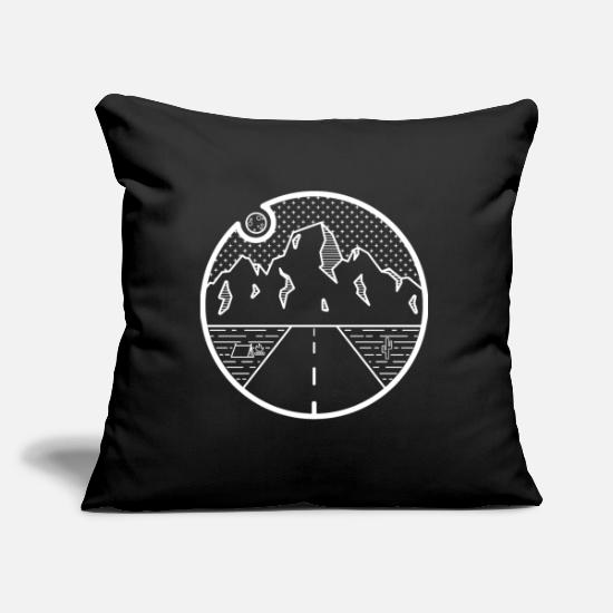 Travel Pillow Cases - Highway Travels - Pillowcase 17,3'' x 17,3'' (45 x 45 cm) black