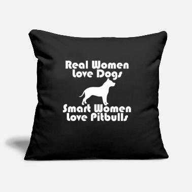 smart women love pit bulls - Pillowcase 17,3'' x 17,3'' (45 x 45 cm)