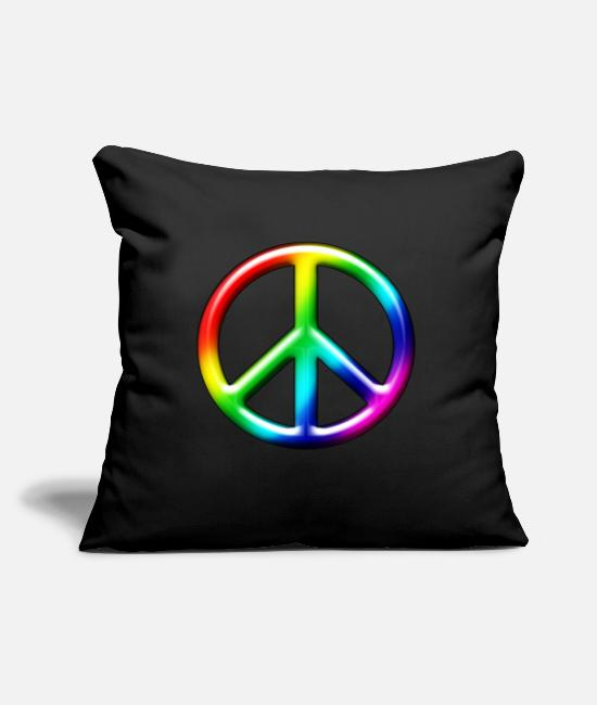 Marriage Equality Pillow Cases - 3D CND Rainbow - Pillowcase 17,3'' x 17,3'' (45 x 45 cm) black