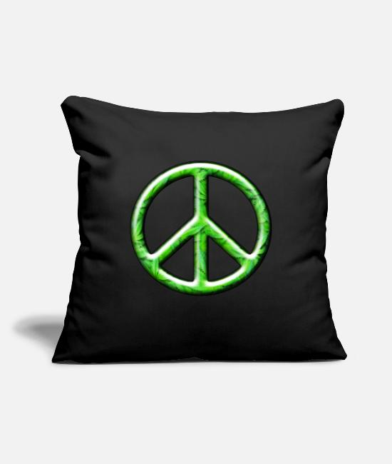 Hipster Pillow Cases - 3D CND Weed Leaves - Pillowcase 17,3'' x 17,3'' (45 x 45 cm) black