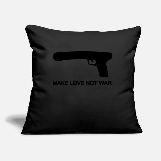 Porno Copricuscini - make love not war - Copricuscino nero