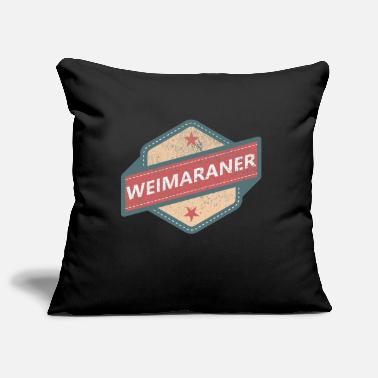 Doggie School WEIMARANER LOGO Vintage Retro - Pillowcase 17,3'' x 17,3'' (45 x 45 cm)