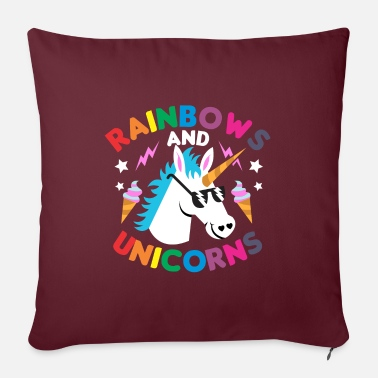 Funny Collection Regalo de unicornio arcoiris - Funda de cojín