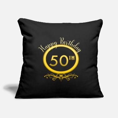 50th Birthday 50th birthday - Pillowcase 17,3'' x 17,3'' (45 x 45 cm)