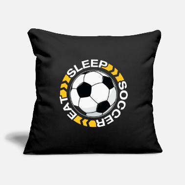 Football Team &amp Eat Sleep Soccer Repeat T-Shirt - Pillowcase 17,3'' x 17,3'' (45 x 45 cm)