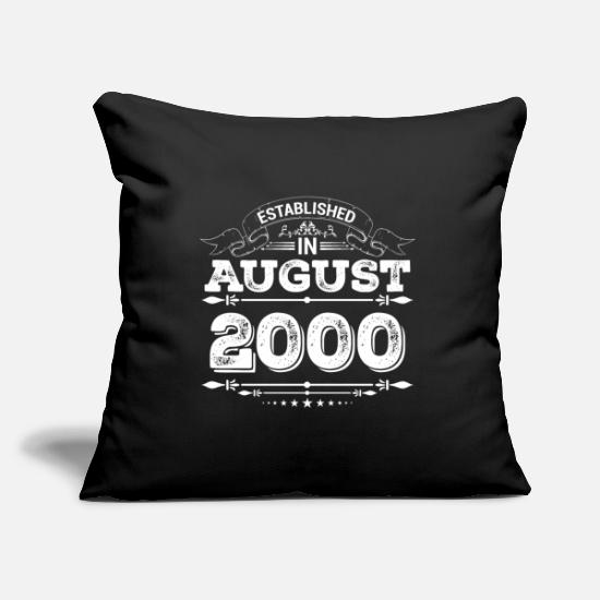Established Pillow Cases - Established in August 2000 - Pillowcase 17,3'' x 17,3'' (45 x 45 cm) black
