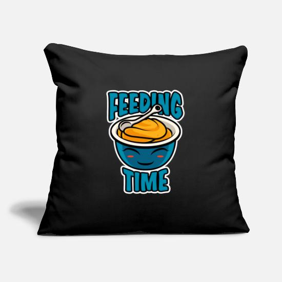 Program Pillow Cases - Foodbaby Mealtime Baby Food Cool Gift - Pillowcase 17,3'' x 17,3'' (45 x 45 cm) black