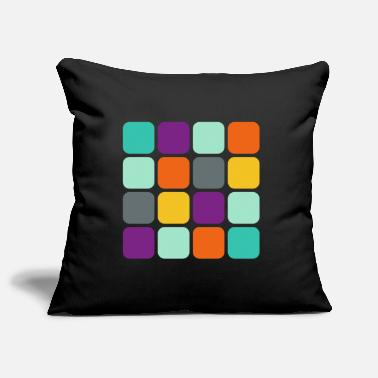 Square Rounded square in square - Pillowcase 17,3'' x 17,3'' (45 x 45 cm)