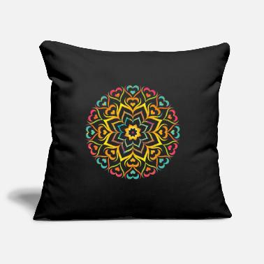 Flower Power Mandala - Pillowcase 17,3'' x 17,3'' (45 x 45 cm)