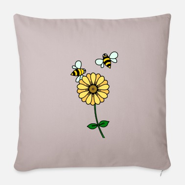 Buttercup Buttercup and bees - Pillowcase 17,3'' x 17,3'' (45 x 45 cm)