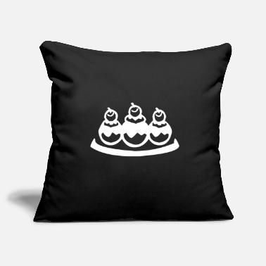 Candy Tasty chocolate balls in the ice cream parlor - Pillowcase 17,3'' x 17,3'' (45 x 45 cm)