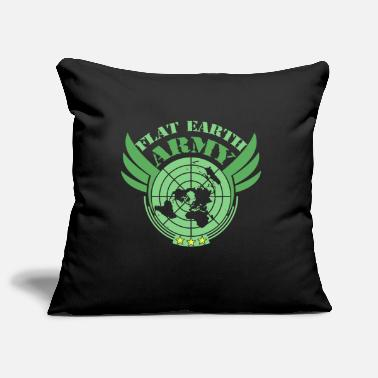 Flat Rate Flat Earth Army Flat Earth Society - Pillowcase 17,3'' x 17,3'' (45 x 45 cm)
