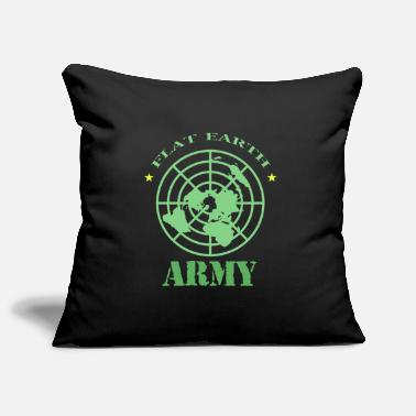 Flat Rate Flat Earth Society Flat Earth Army - Pillowcase 17,3'' x 17,3'' (45 x 45 cm)