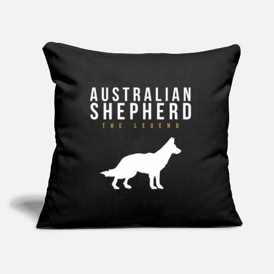 Australian Shepherd Pillow Cases - Australian Shepherd Legendary Dog Dog - Pillowcase 17,3'' x 17,3'' (45 x 45 cm) black