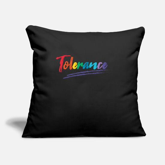 Tolerance Pillow Cases - tolerance - Pillowcase 17,3'' x 17,3'' (45 x 45 cm) black