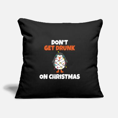 Hungover Drunk penguin with fairy light gift idea - Pillowcase 17,3'' x 17,3'' (45 x 45 cm)