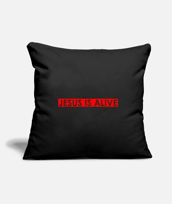 Think Pillow Cases - Jesus is alive - Pillowcase 17,3'' x 17,3'' (45 x 45 cm) black