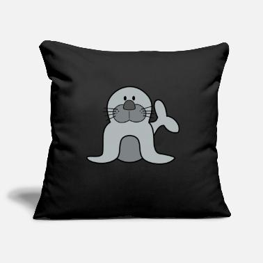 Harp Seal seal baby seal gray seal seal - Pillowcase 17,3'' x 17,3'' (45 x 45 cm)