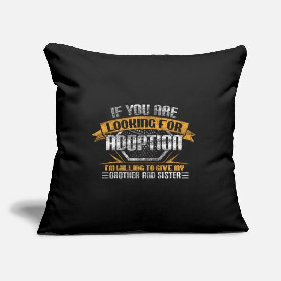 Birthday Pillow Cases - Brother sister siblings funny - Pillowcase 17,3'' x 17,3'' (45 x 45 cm) black