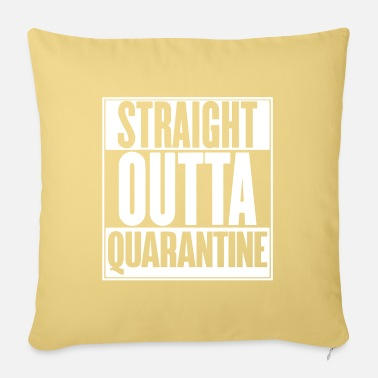Social Distancing Straight Outta Quarantine Social Distancingintrove - Pillowcase 17,3'' x 17,3'' (45 x 45 cm)