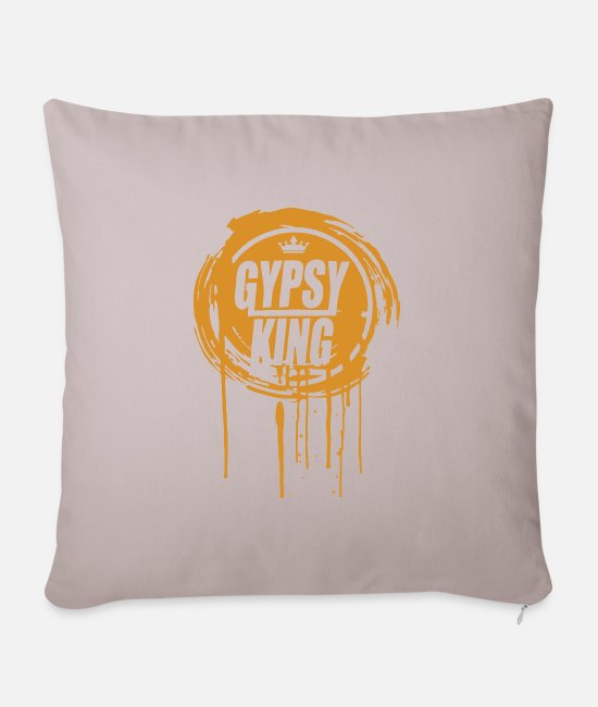 Drip And Dripping Pillow Cases - Tyson Fury Gypsy King - Pillowcase 17,3'' x 17,3'' (45 x 45 cm) light taupe