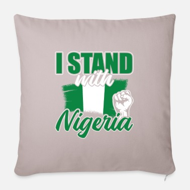 Root I Stand With Nigeria - Pillowcase 17,3'' x 17,3'' (45 x 45 cm)