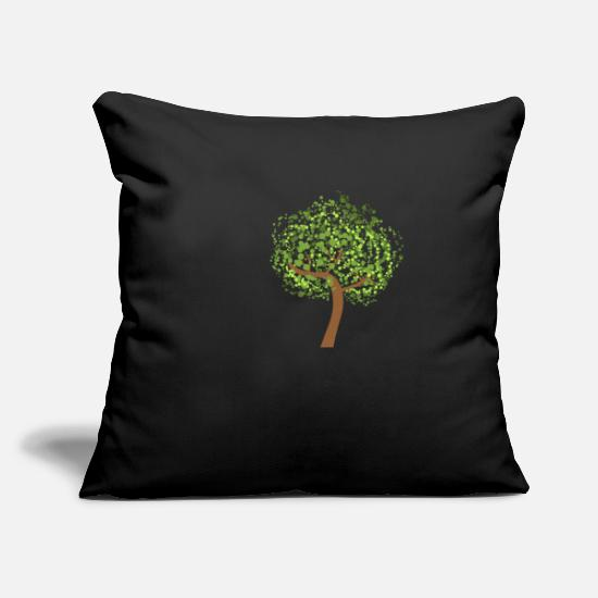 Art Pillow Cases - ART ART - Pillowcase 17,3'' x 17,3'' (45 x 45 cm) black