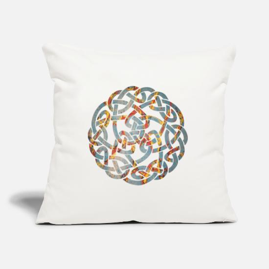 Celtic Pillow Cases - celtic knot 5 e 19 - Pillowcase 17,3'' x 17,3'' (45 x 45 cm) natural white