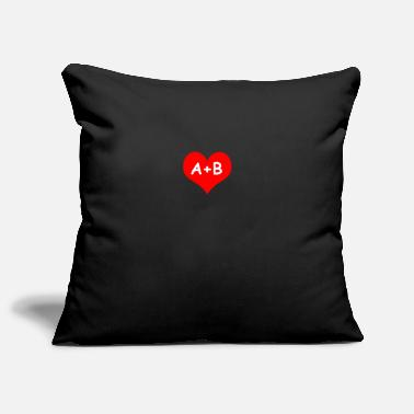 B Day Valentine's Day A + B - Pillowcase 17,3'' x 17,3'' (45 x 45 cm)