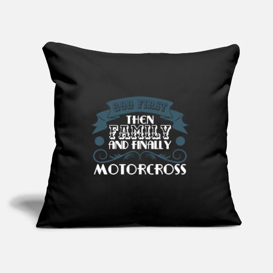 "Motor Pillow Cases - Motocross Tee For Riders Saying ""God First! Then - Pillowcase 17,3'' x 17,3'' (45 x 45 cm) black"