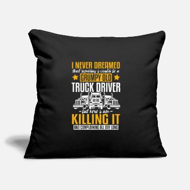 Drifting Crumpy Old Truck Driver and Killing it - Pillowcase 17,3'' x 17,3'' (45 x 45 cm)