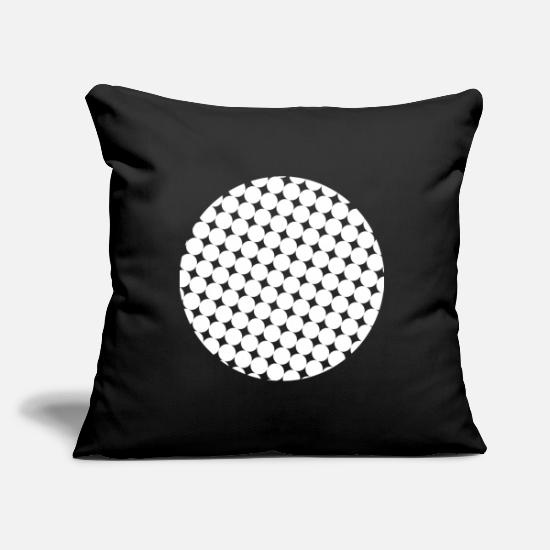 Gift Idea Pillow Cases - One point - Pillowcase 17,3'' x 17,3'' (45 x 45 cm) black