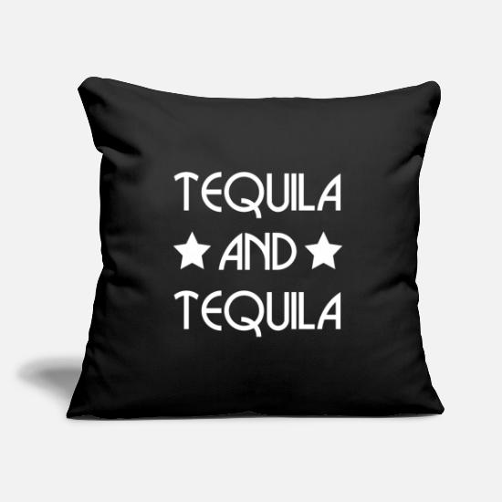 Alcohol Pillow Cases - TEQUILA AND TEQUILA (w) - Pillowcase 17,3'' x 17,3'' (45 x 45 cm) black